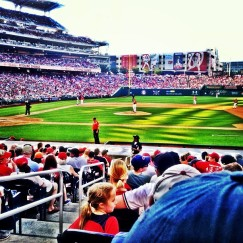 Great view at the Nationals game in Washington DC